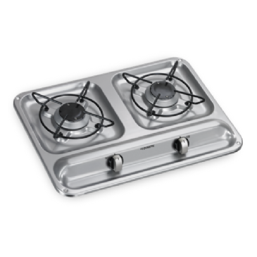 DOMETIC HB 2325 TWO-BURNER GAS HOB, 450 X 325 MM